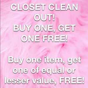 Buy 1 Get 1 FREE on Clothing & Shoes ONLY